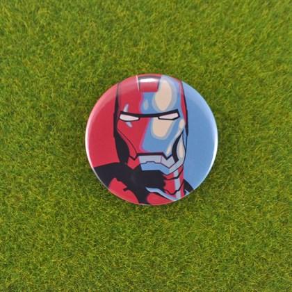 Значок Железный человек - фото 6714