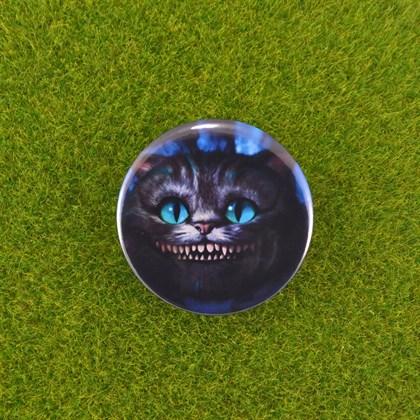 Значок Чеширский кот - фото 6742