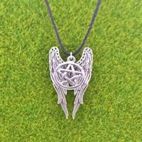 Кулон крылья+пентаграмма