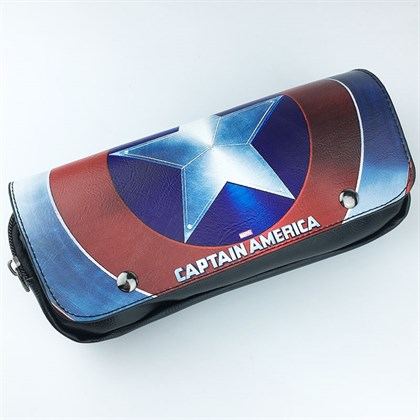 Пенал 2 секционный Щит Капитана Америки - фото 10610