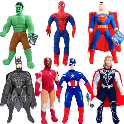 Набор мягкие игрушки супергерои 7 штук - фото 10908