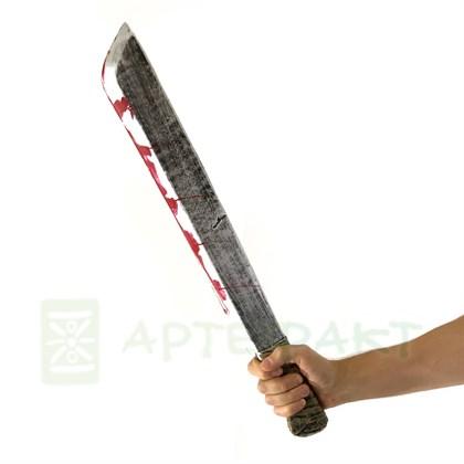 Мачете Джейсона Вурхиса прорезиненный 60 см - фото 11028