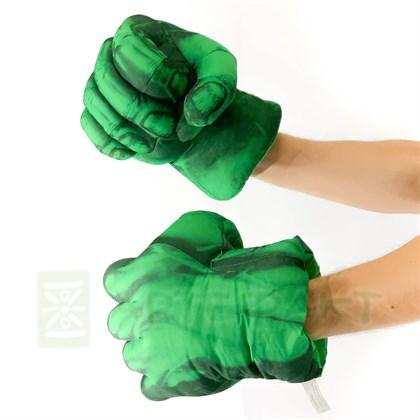Перчатки кулаки Халка - фото 11036