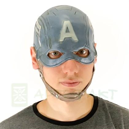 Маска Капитана Америки премиум - фото 11045
