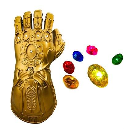 Перчатка Таноса со светящимися съемными камнями - фото 11309
