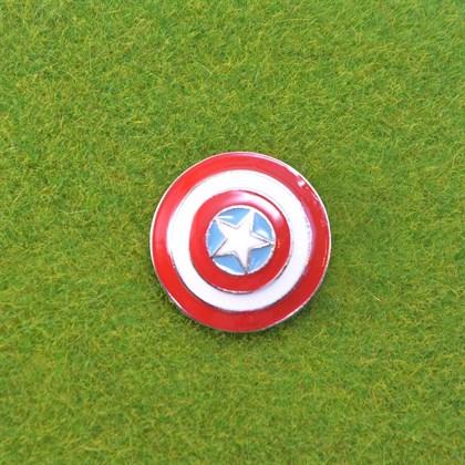 Значок щит капитана Америка - фото 7073