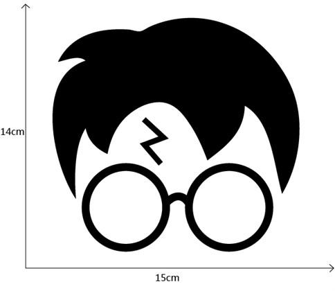 Наклейка cтикер Гарри Поттер - фото 8254