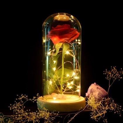 Роза в стеклянной колбе Красавица и Чудовище - фото 8606