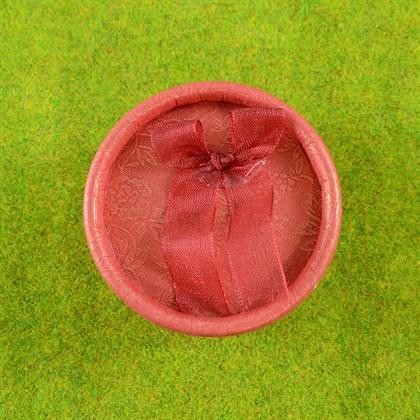 Красная коробочка (круглая) - фото 8663
