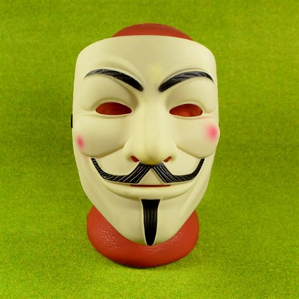 Маска Анонимус Гая Фокса Вендетта матовая - фото 9173