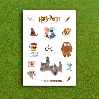 Наклейки стикеры Гарри Поттер - фото 9532