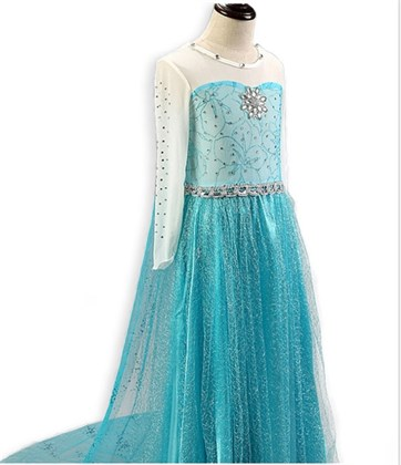 Платье Эльзы детское тип 2 - фото 9726