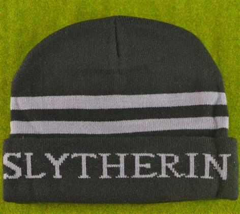 Шапка с надписью Slytherin - фото 9841