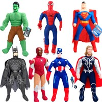 Набор мягкие игрушки супергерои 7 штук