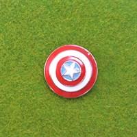 Значок щит капитана Америка