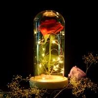 Роза в стеклянной колбе Красавица и Чудовище