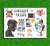 Наклейки стикеры Очень странные дела (вырезные)
