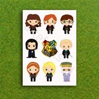Наклейки стикеры с персонажами Гарри Поттер